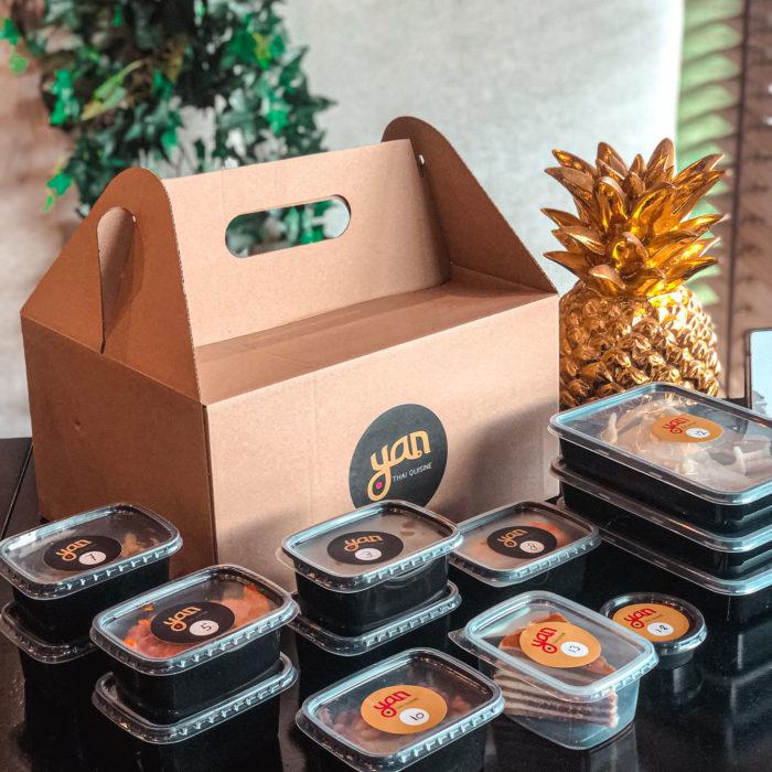 Indonesische rijsttafel foodbox
